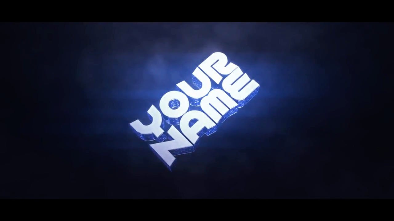 Free Fat Blue Cinema 4D After Effects Intro Template