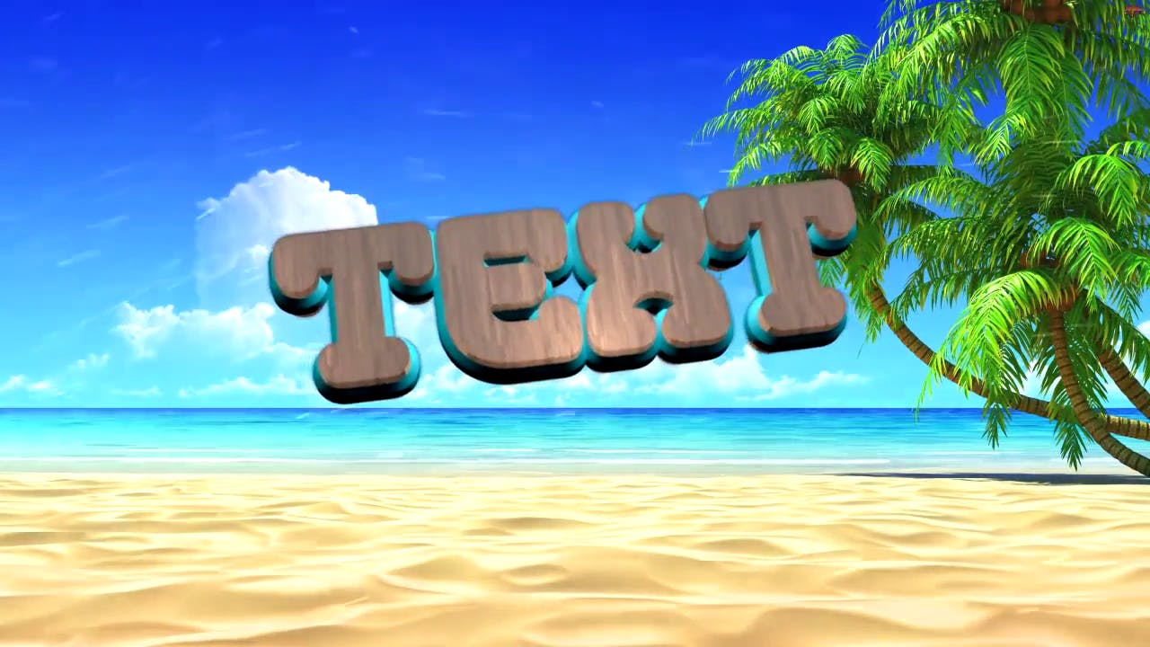 Beach theme brown text intro template Download in the Description C4D Sony vegas