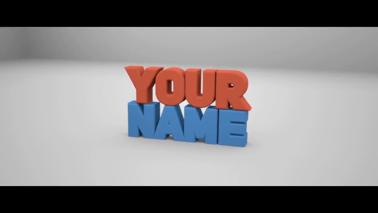 Free Simple Red Blue Blender Only Intro template