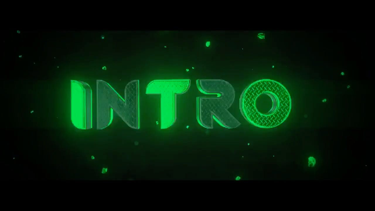 free amazing green blender only intro template