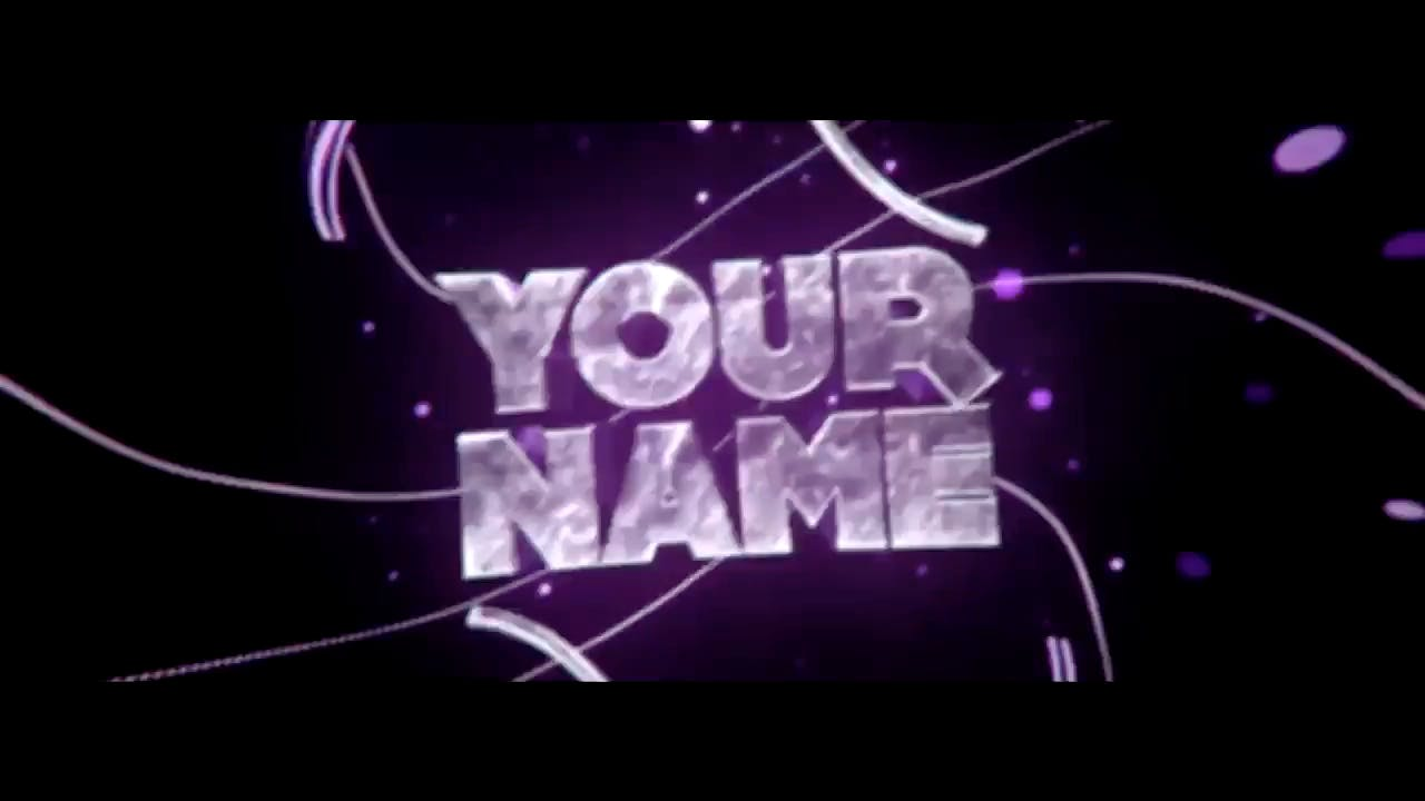 Purple Shock Cinema 4D After Effects Intro Template