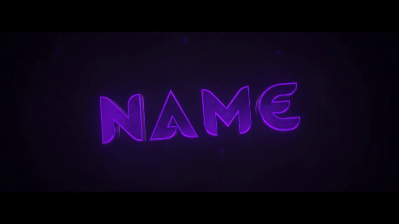 Free Shiny Purple Blender Only Intro template