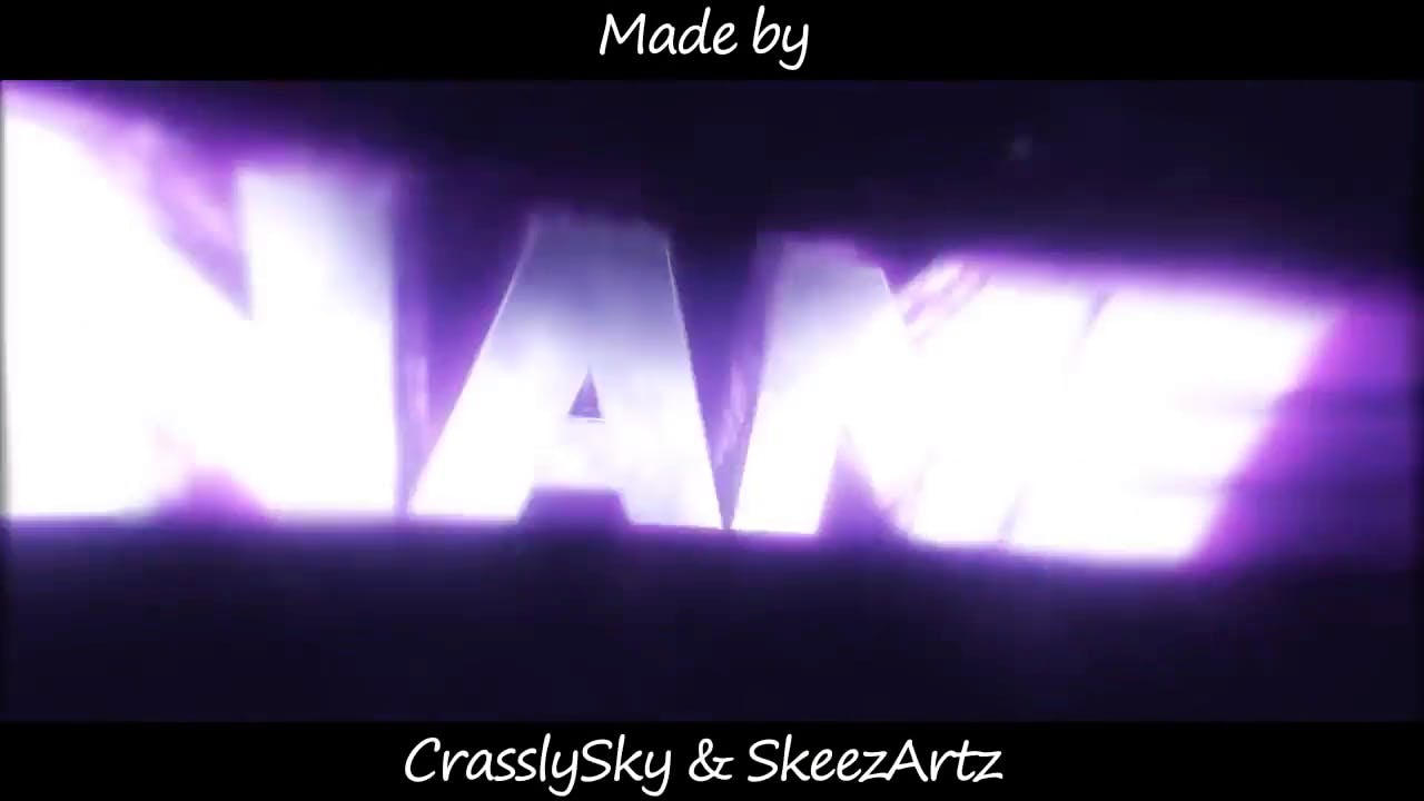 Free Glowing Purple Cinema 4D After Effects Intro Template