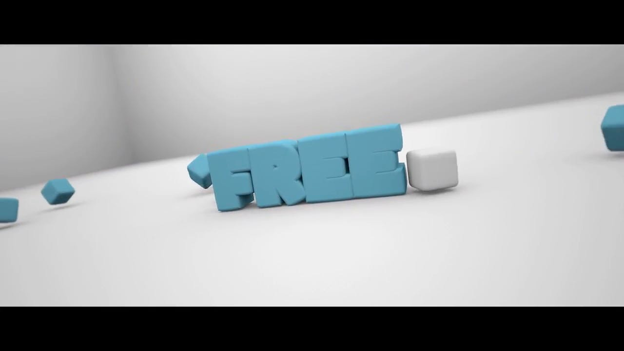 Free Clean and Stiff in Blue Blender Only Intro template