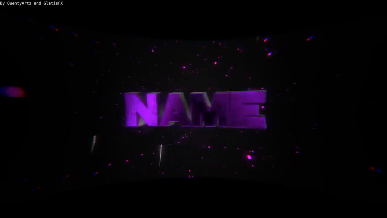 Galactic like Purple DUAL Blender Only Intro template