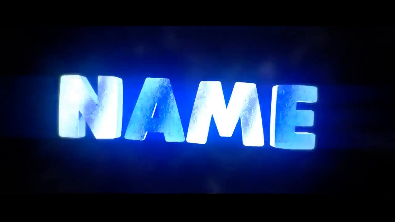Epic Icy Blue Blender Only Intro template