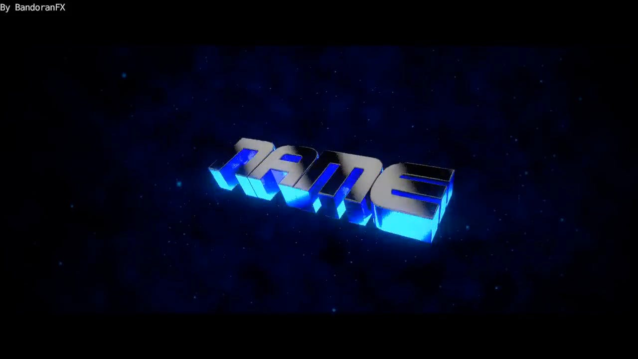3D Chill Blue Blender Only Intro template FREE