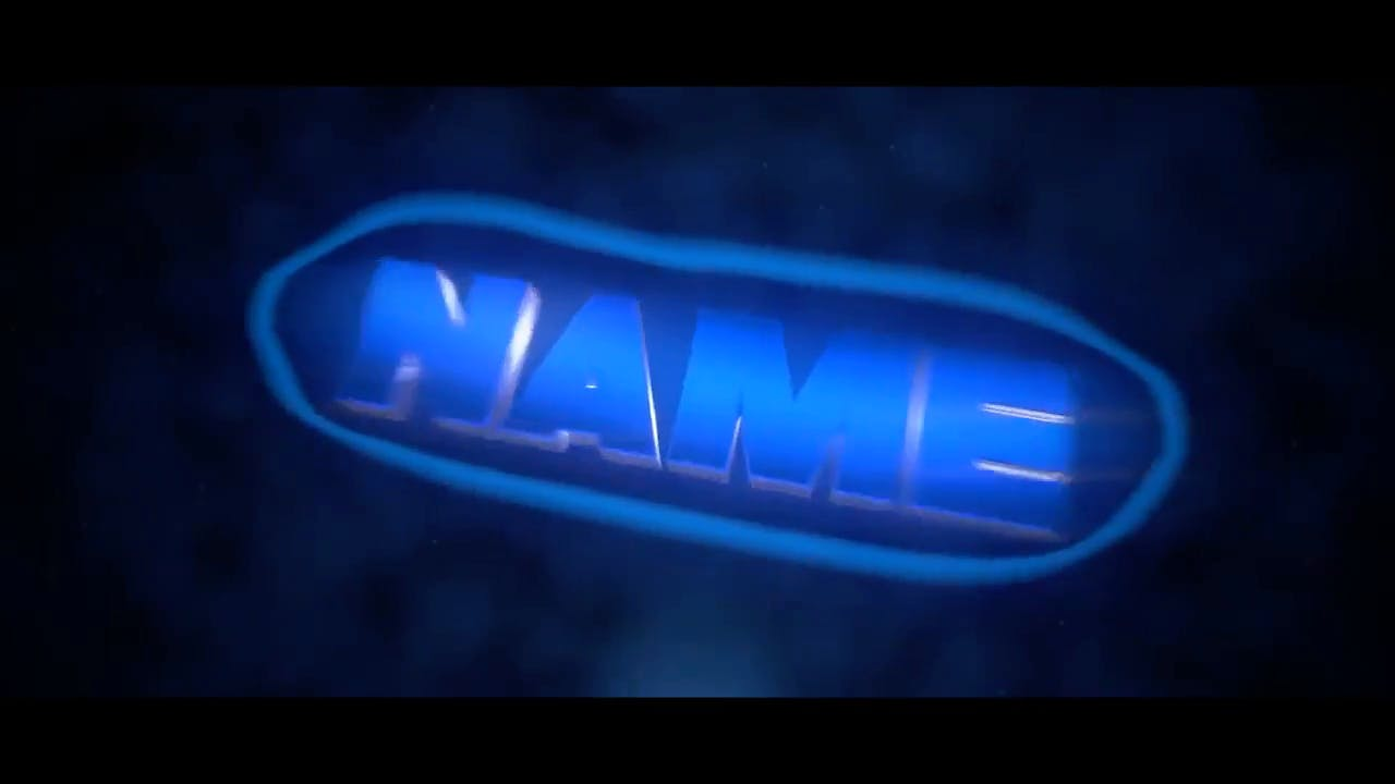 Free Dark Blue Blender Only Intro template