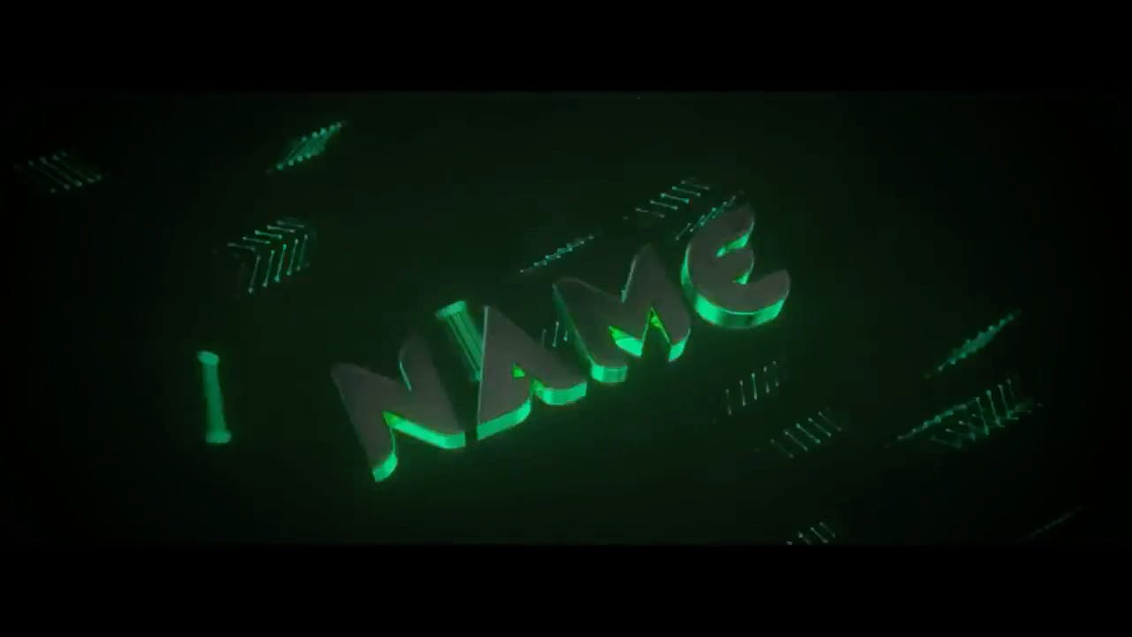 Amazing Green with particles Blender Only Intro template