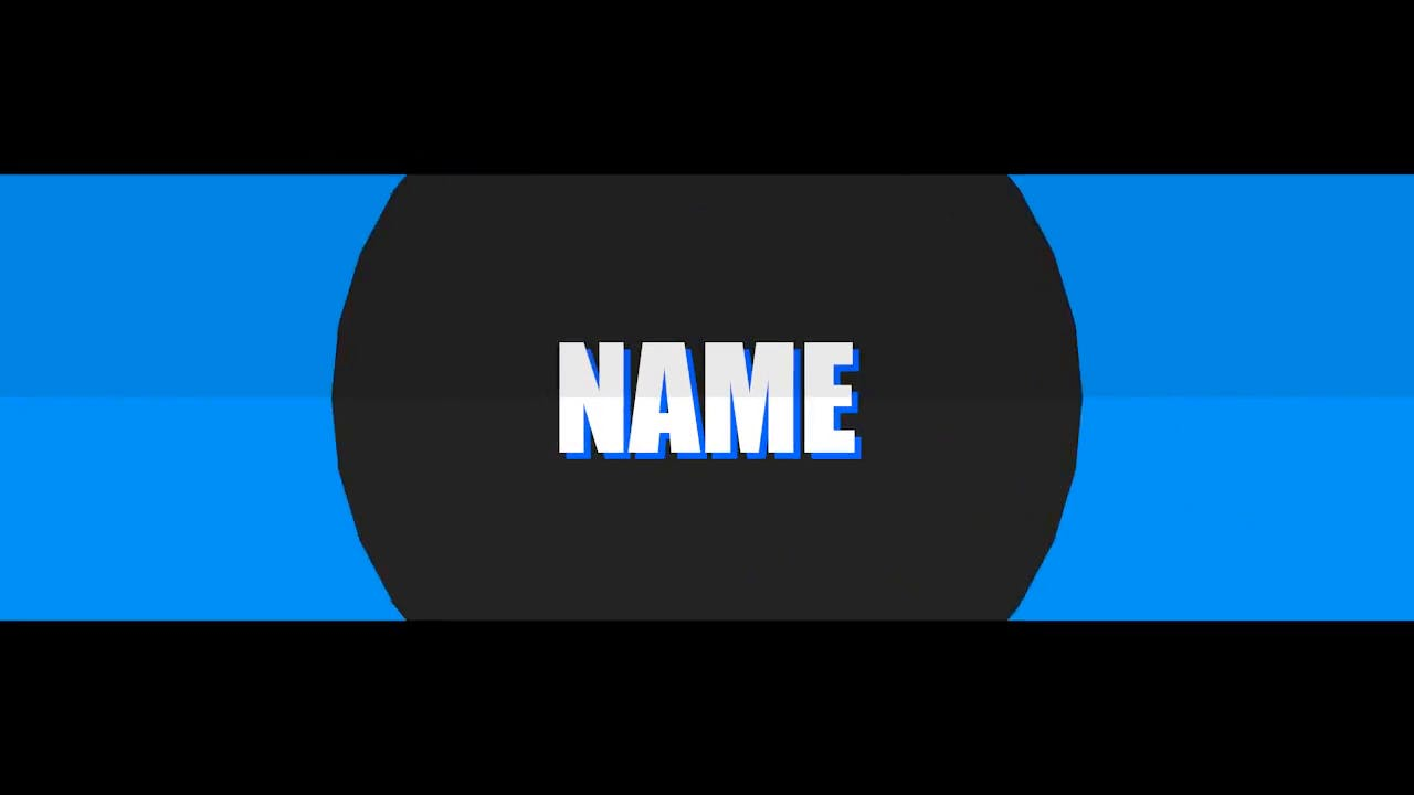 Simple 2D Blue Blender Only Intro template