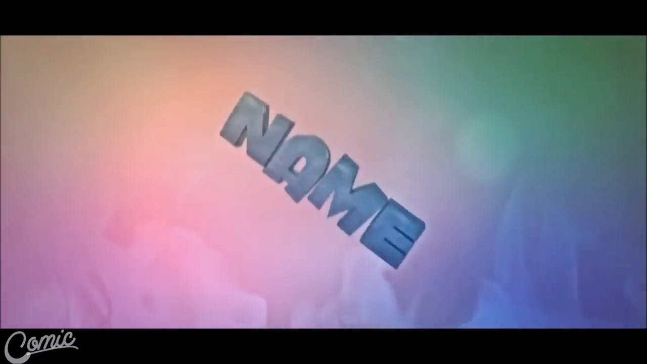 Pretty Rainbow Background Cinema 4D After Effects Intro Template