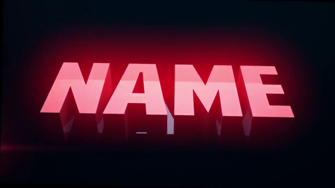 Rotating Pyramids Red 3D Intro Template