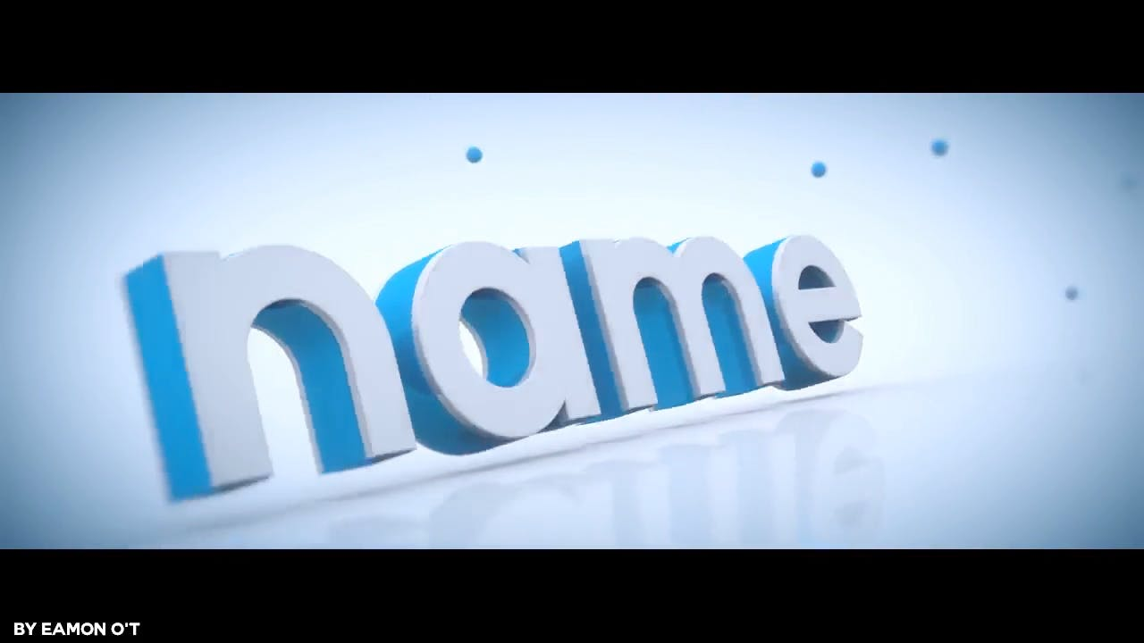 Clean White Blue Blender Only Intro template
