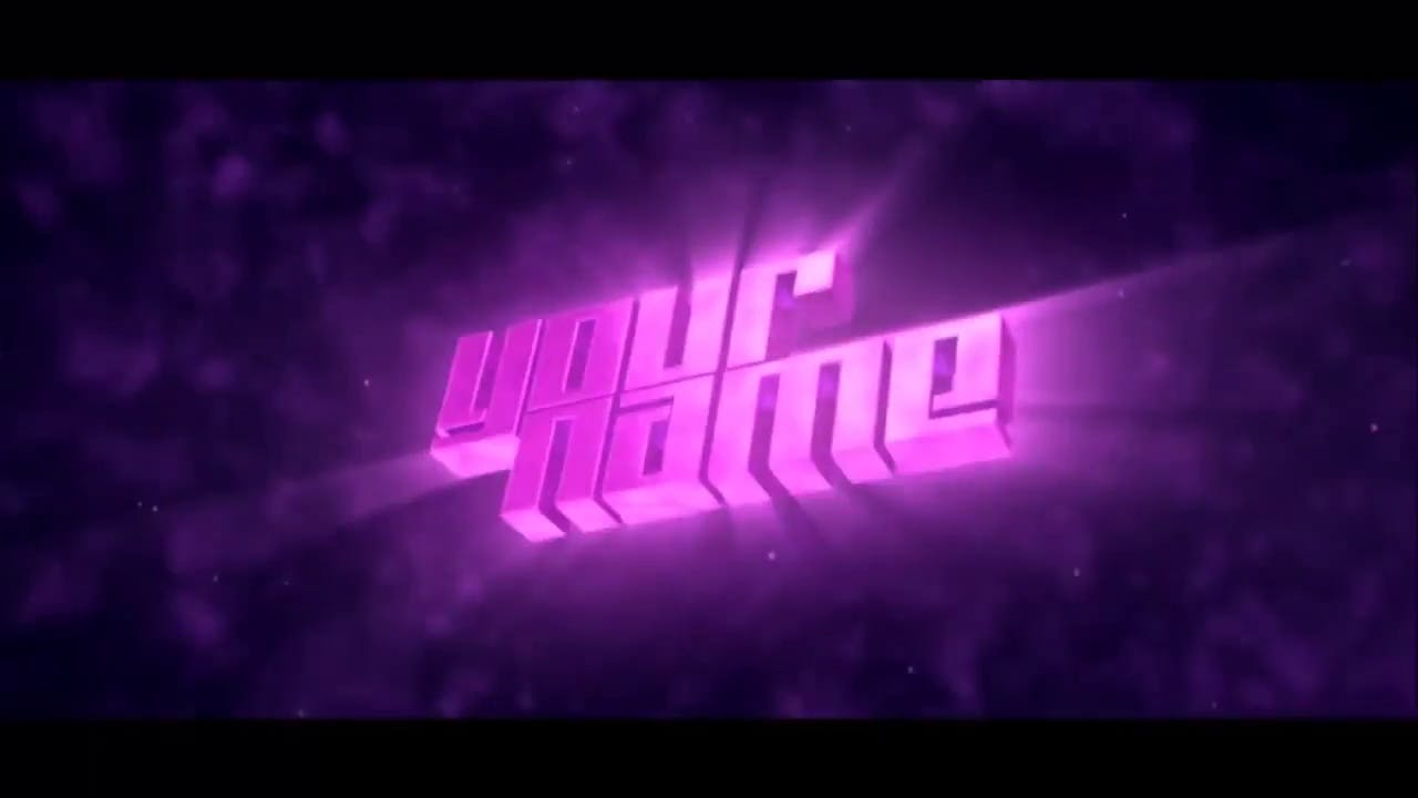 Purple Blast 3D Intro Template