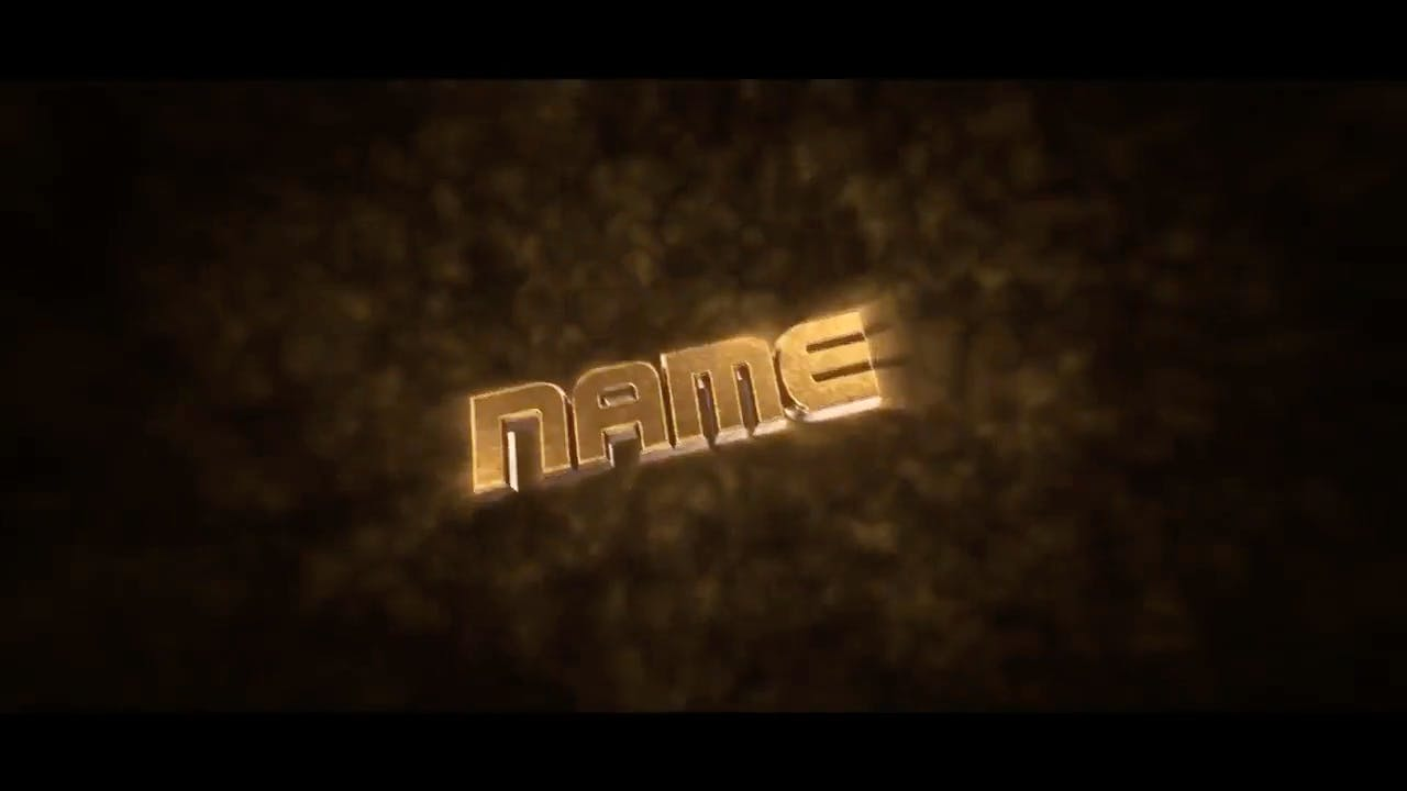 Metallic Gold Cinema 4D After Effects Intro Template