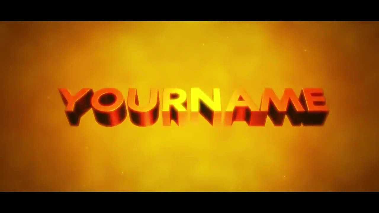 Orange Text 3D Intro Template