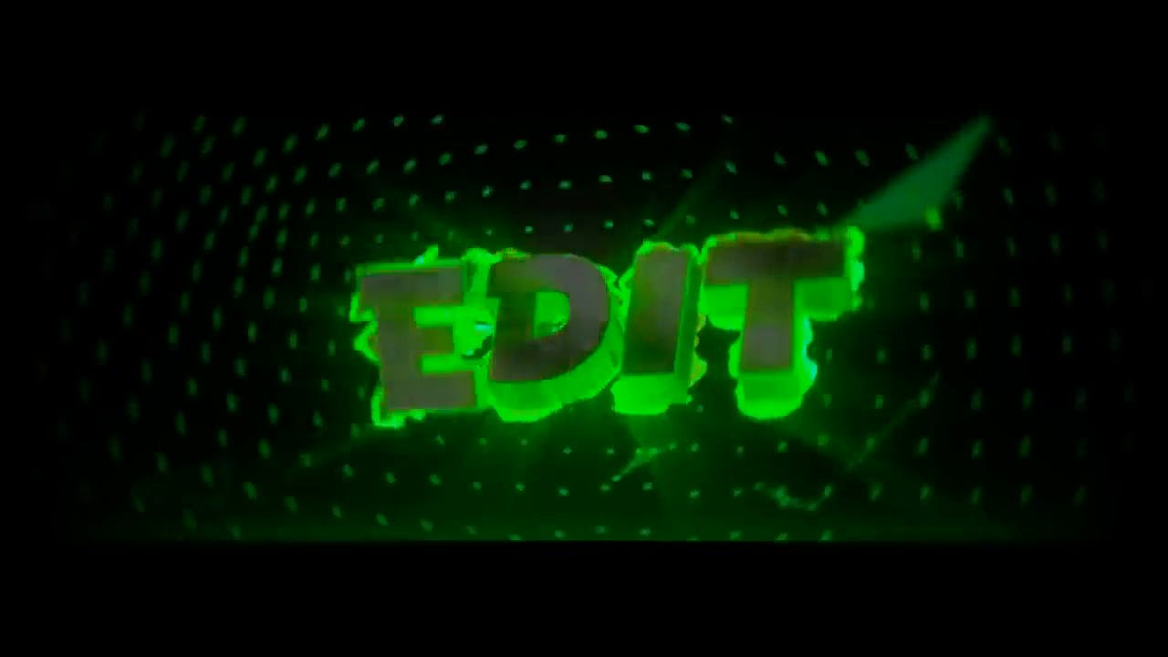 Slimy and Glowing Green Blender Only Intro template