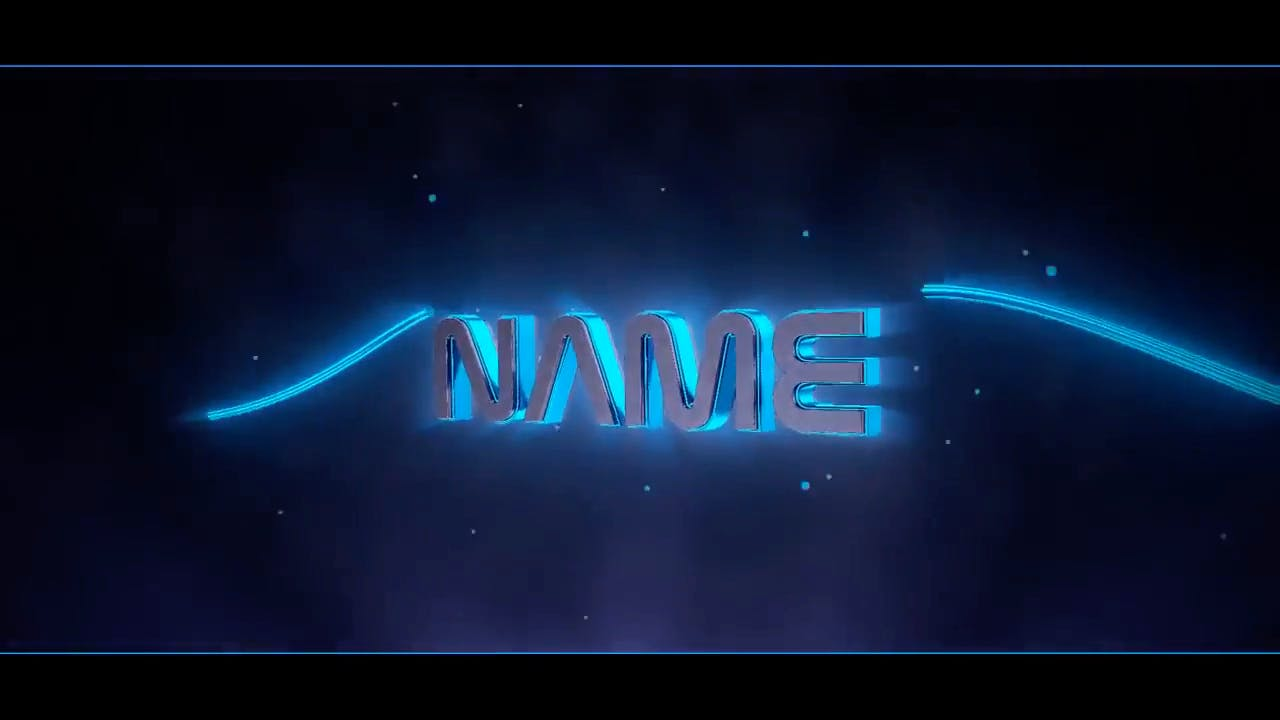 Sharp Edge in Blue Blender Only Intro template