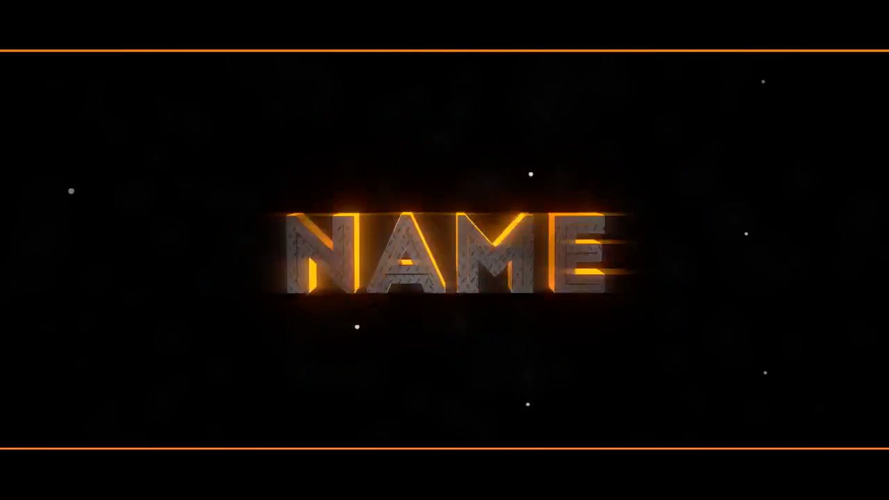 Free Golden Yellow Blender Only Intro template