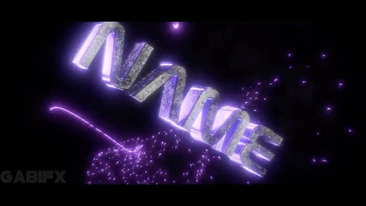 Free Glittered Purple Blender Only Intro template