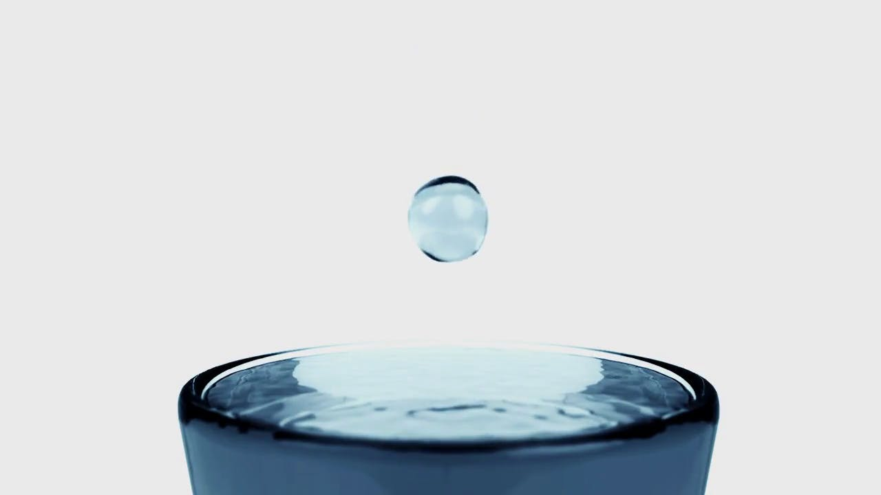 Water drop in slow motion