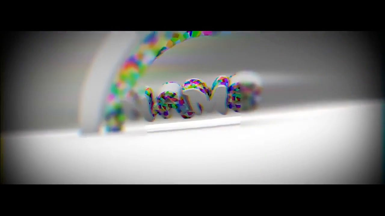Cute Rainbow Styled Blender Only Intro template