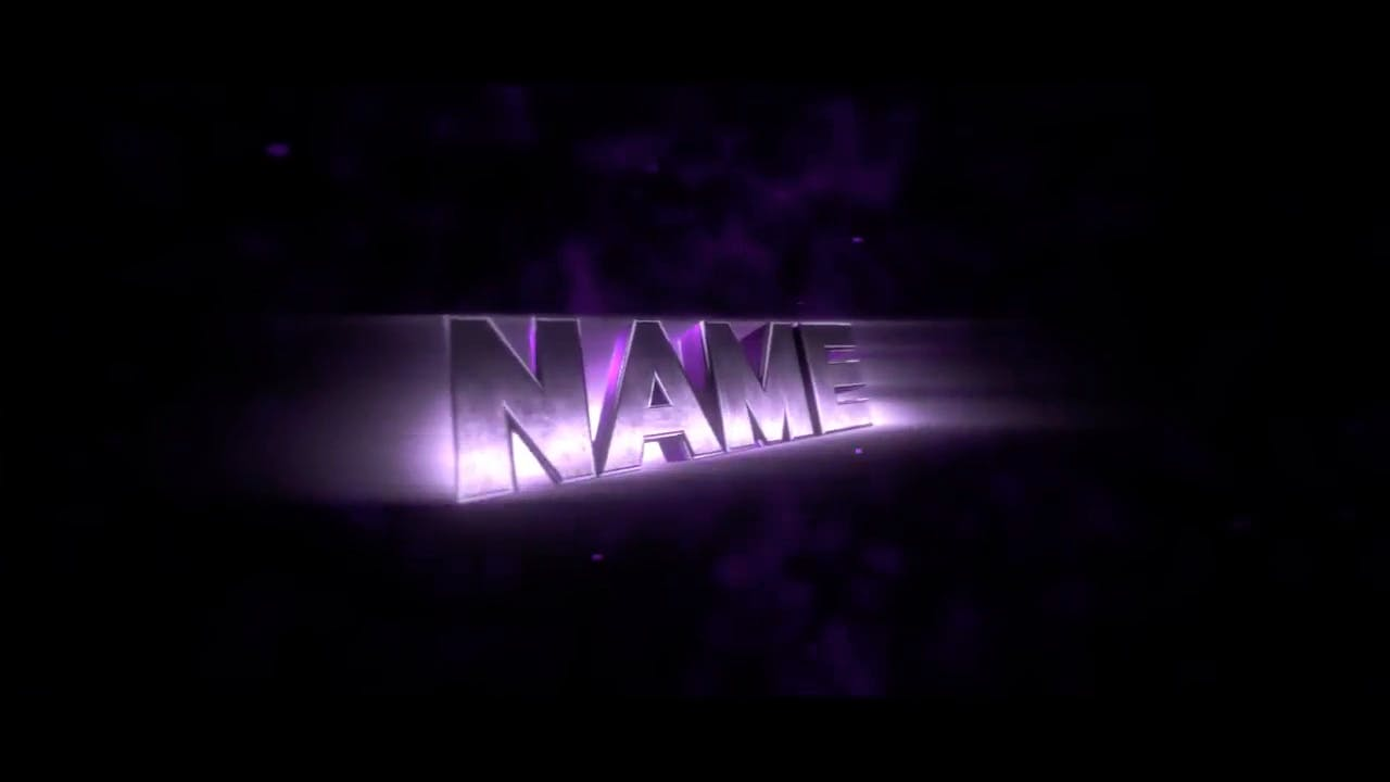 Free Dark Purple Blender Only Intro template