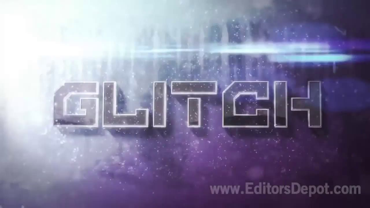 Glitch 3D Logo Reveal and Outro