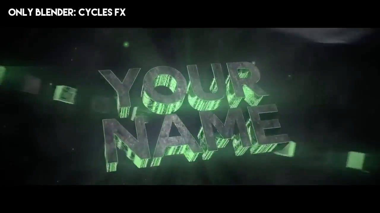 Amazing Green 3D Blender Only Intro template