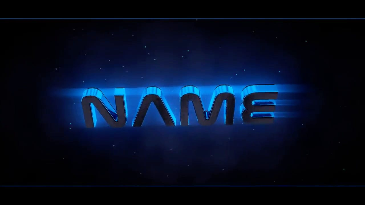 Cool Techno Blue Blender Only Intro template