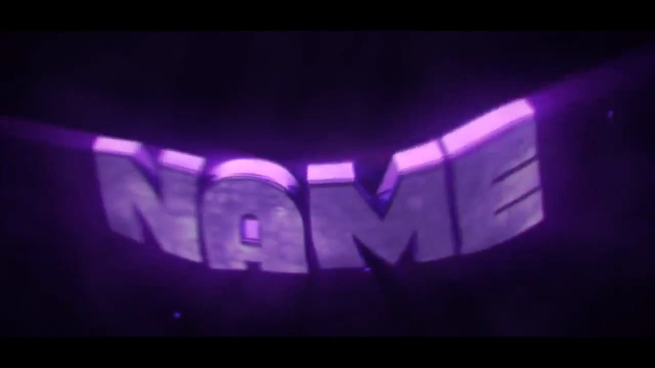 Cool purple beating Cinema 4D After Effects Intro Template