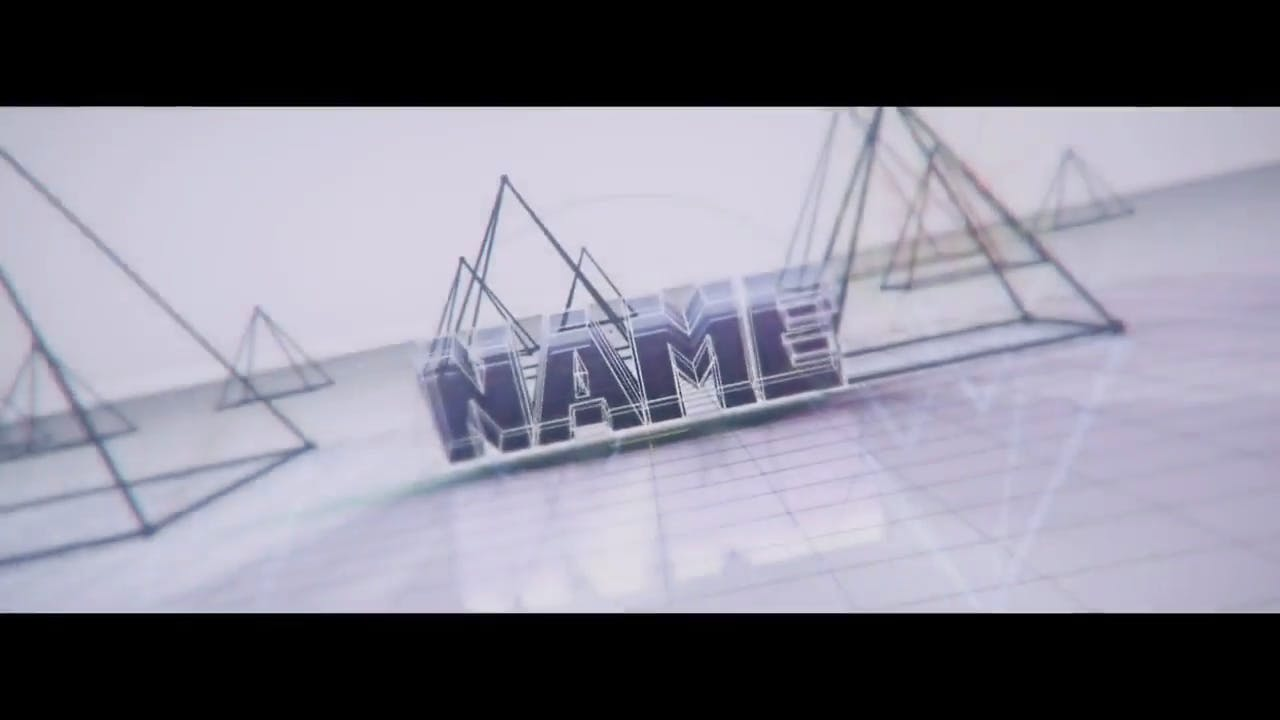 Free Amazing Blue Pyramids Cinema 4D After Effects Intro Template