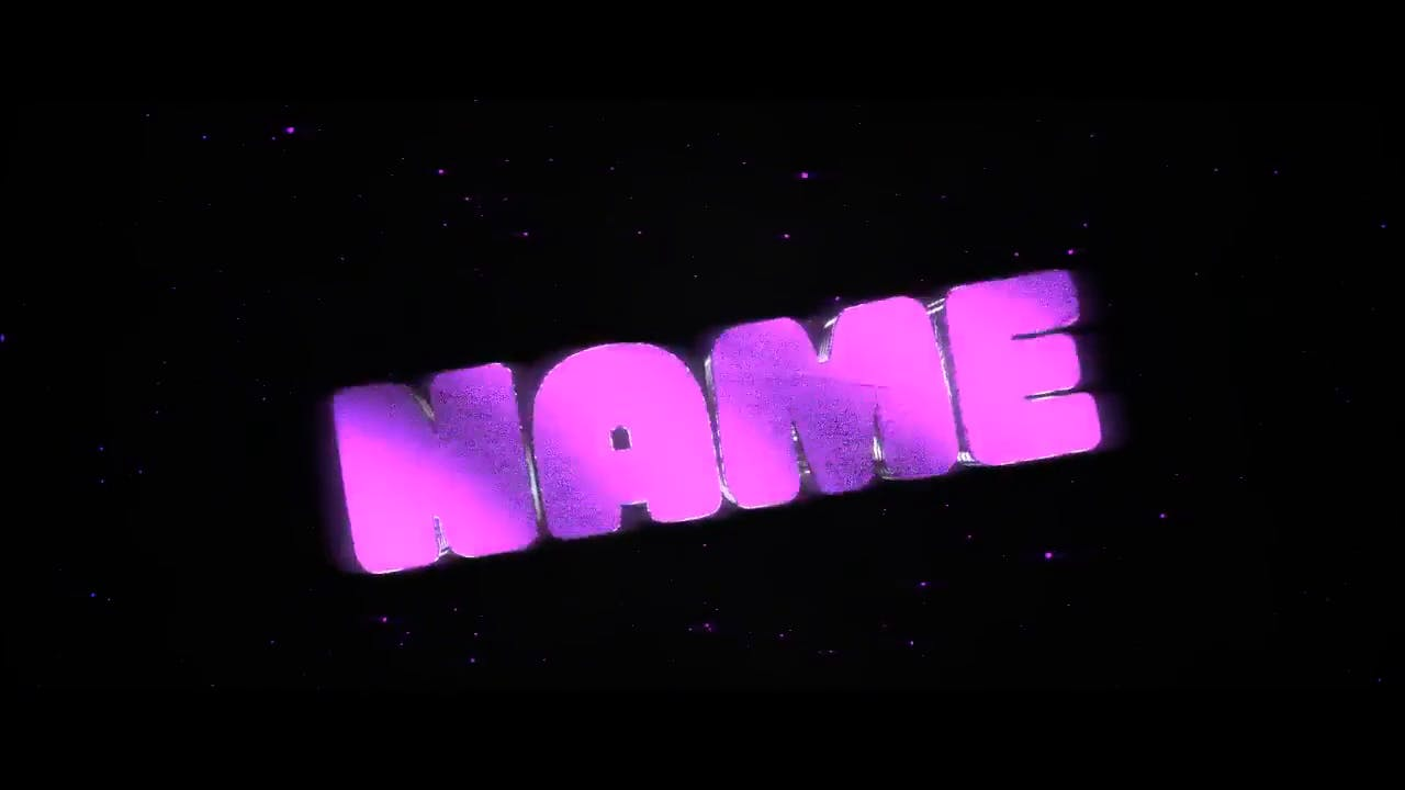 Cool and Stylish Glowing Purple Blender Only Intro template