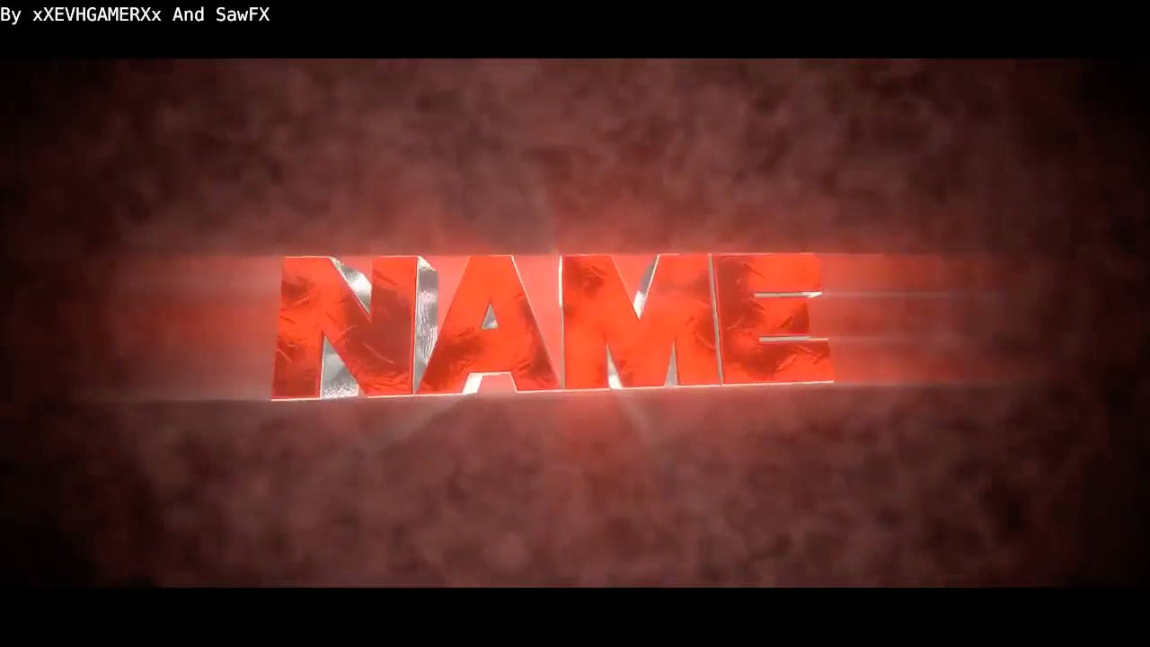 Super Red DUAL Blender Only Intro template