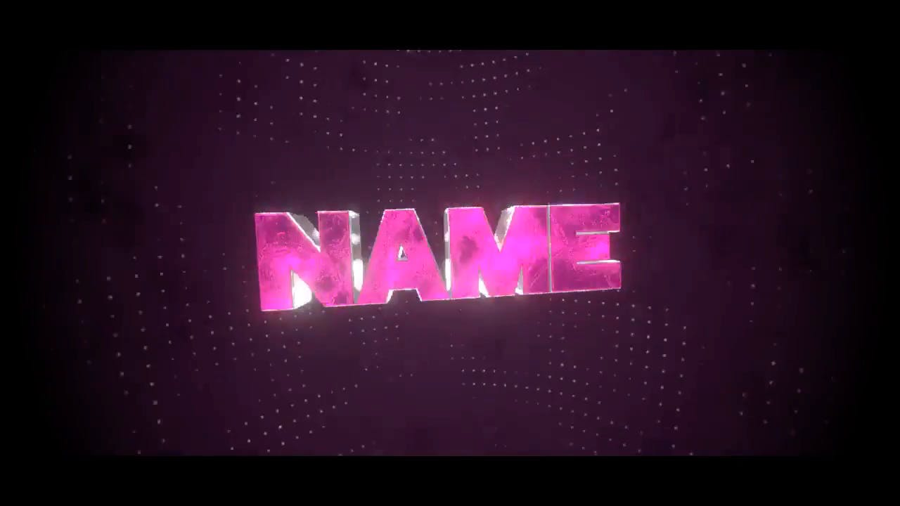 Chic Glowing Purple Blender Only Intro template
