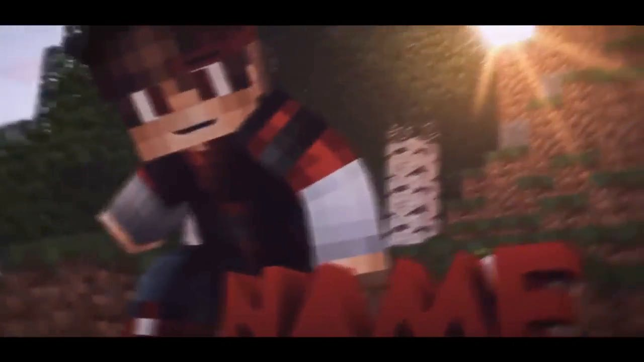Rocking Minecraft Cinema 4D After Effects Intro Template