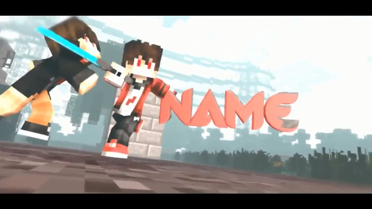 Epic Minecraft Battle Animation Cinema 4D After Effects Intro Template