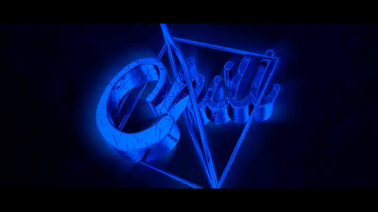Super CHILL Blue Blender Only Intro template