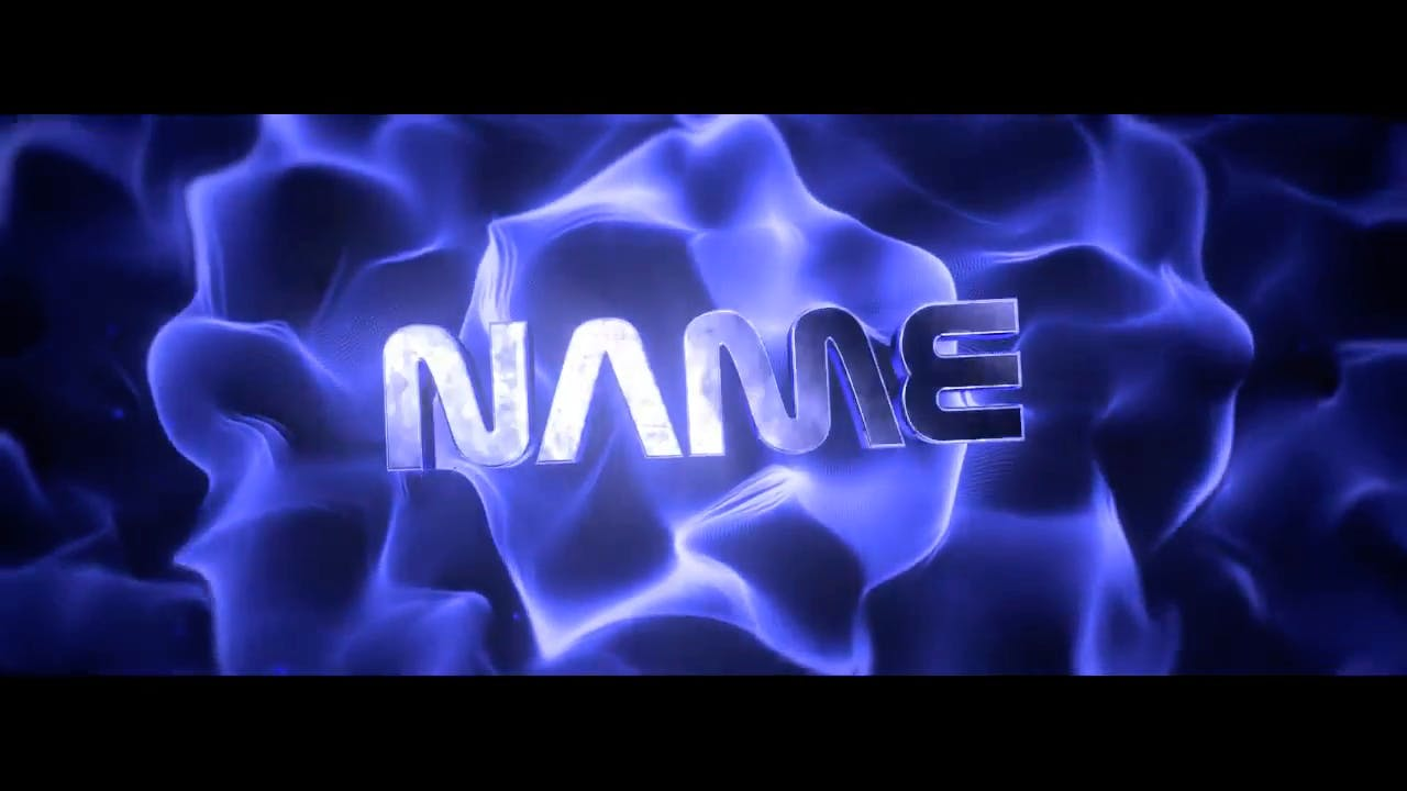 Free Blue Amazing Explosion Blender Only Intro template