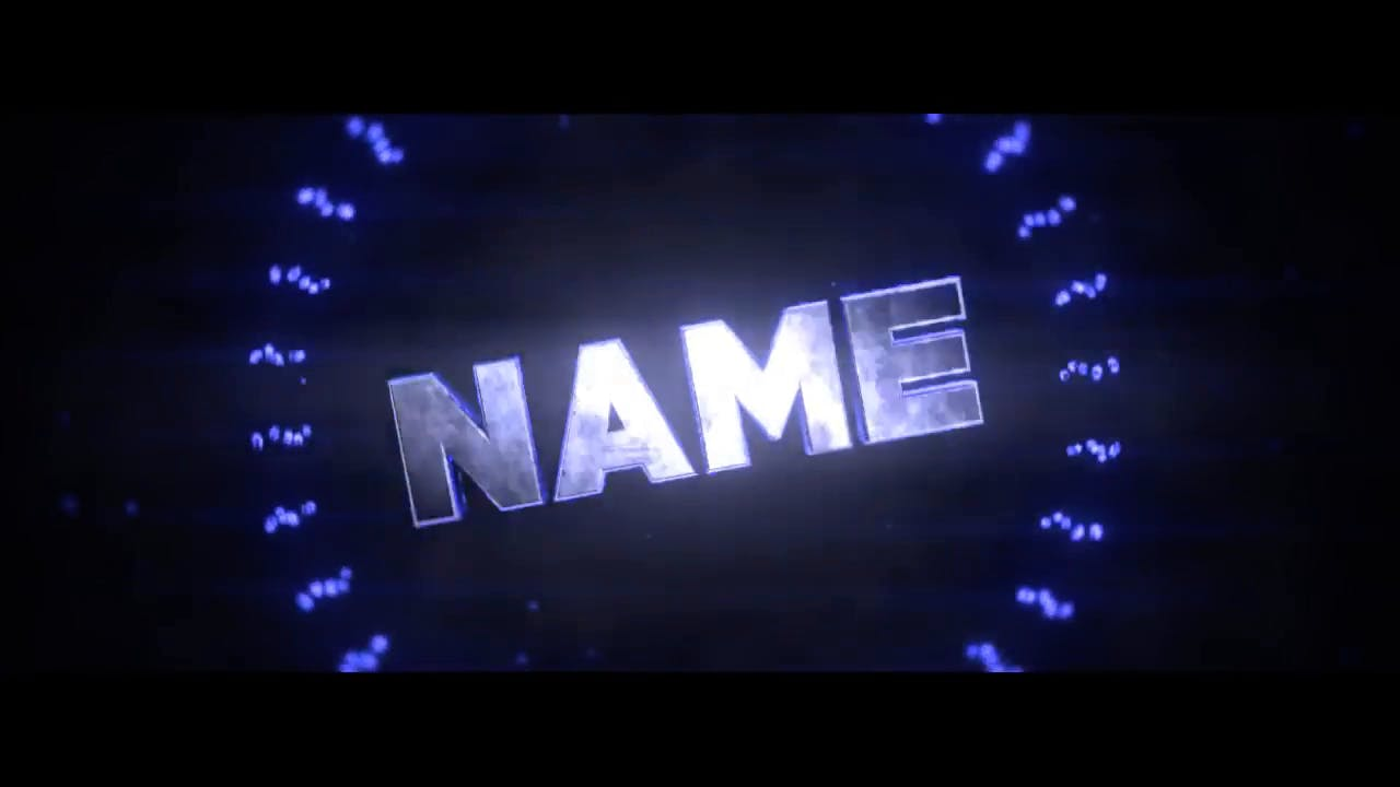 Super Bright Blue Blender Only Intro template