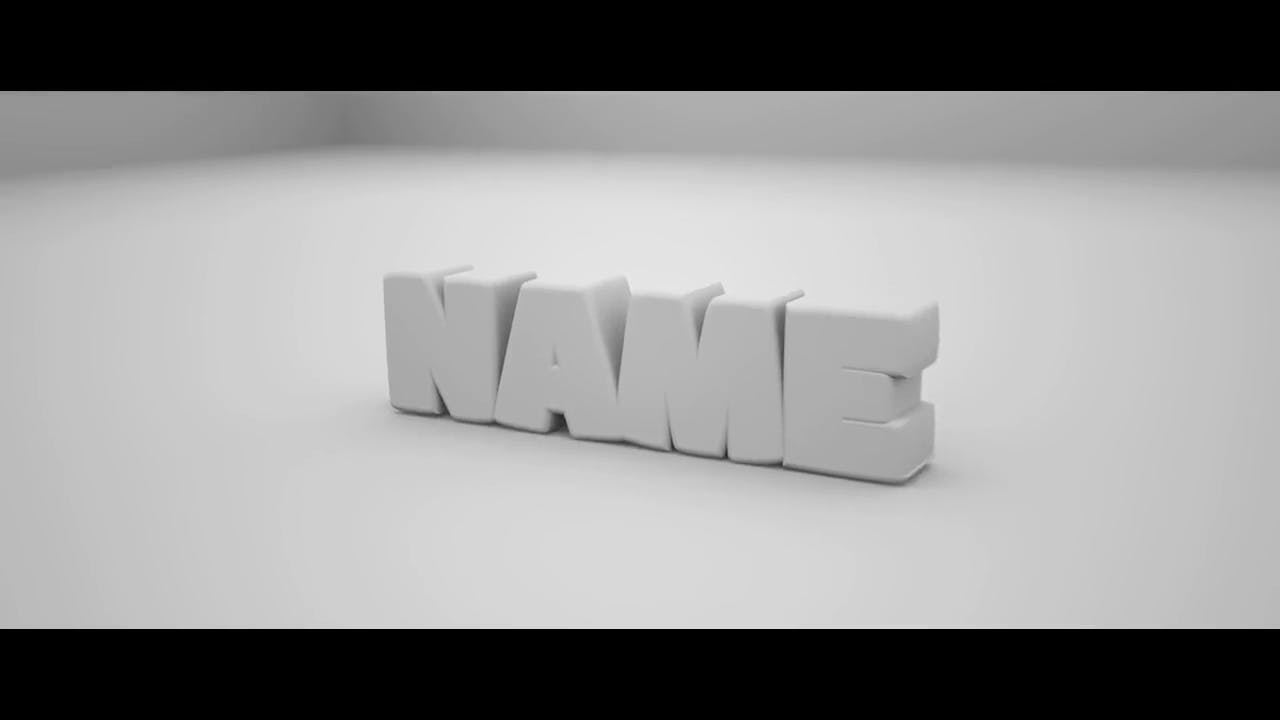 Free 3D Clean and Chill Blender Only Intro template