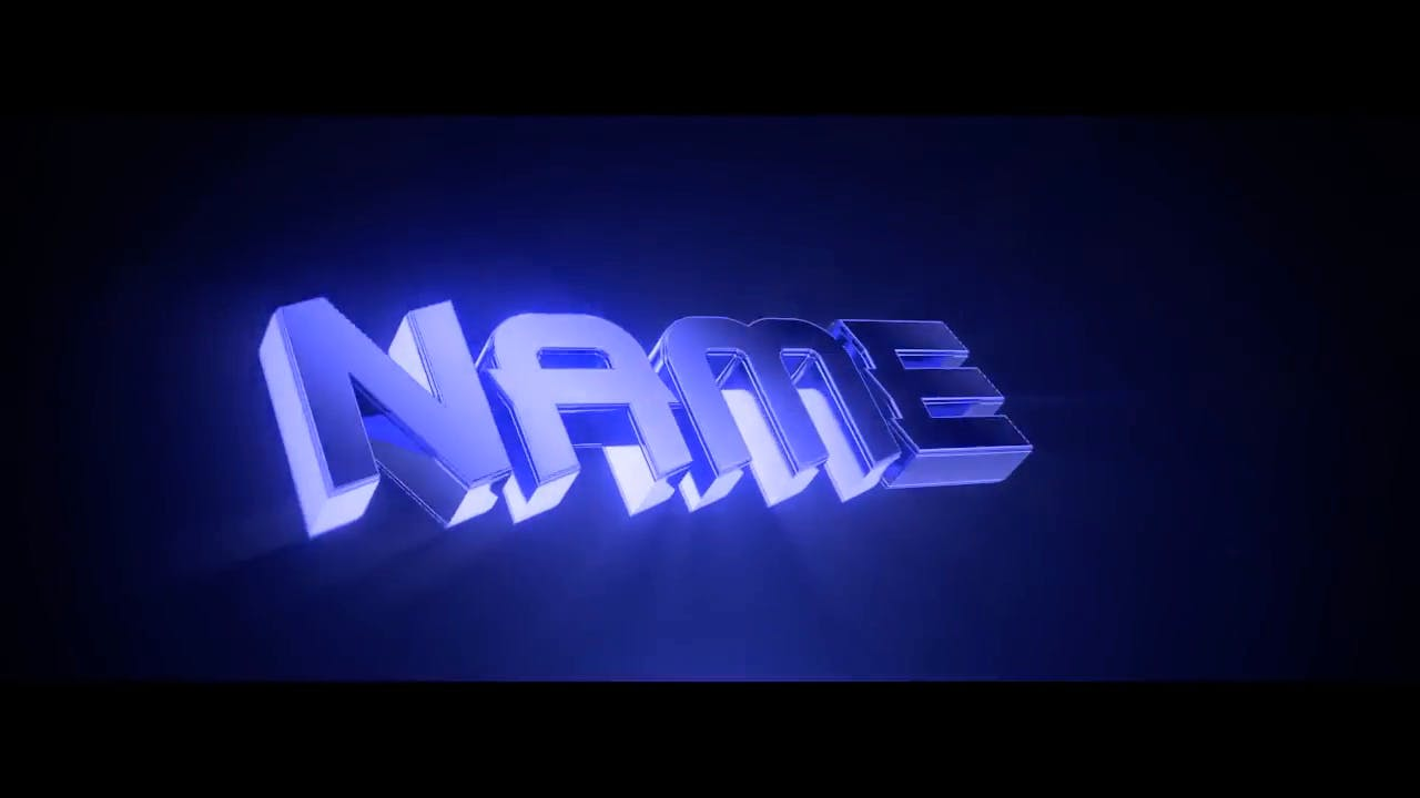 Amazing 3D Blue Blender Only Intro template