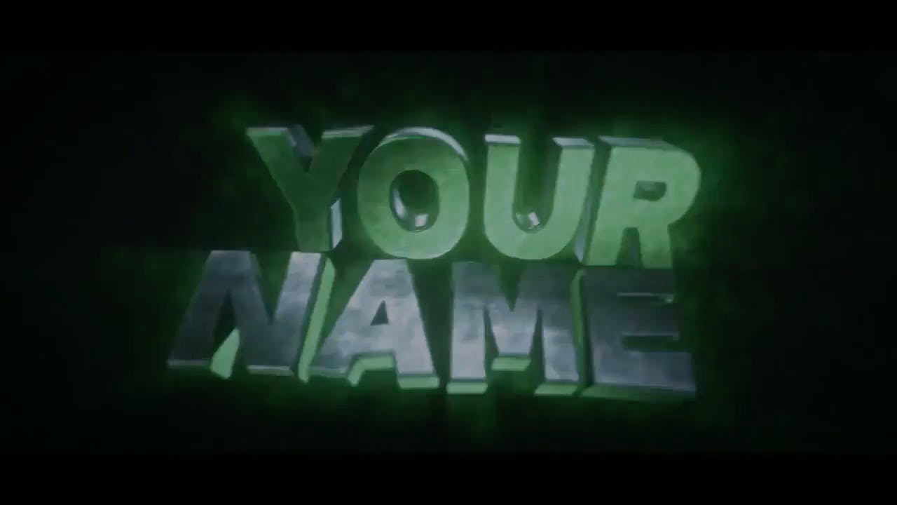 Blinding Green 3D Cinema 4D After Effects Intro Template