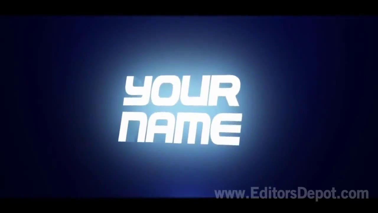 Blue Text 3D Intro Template