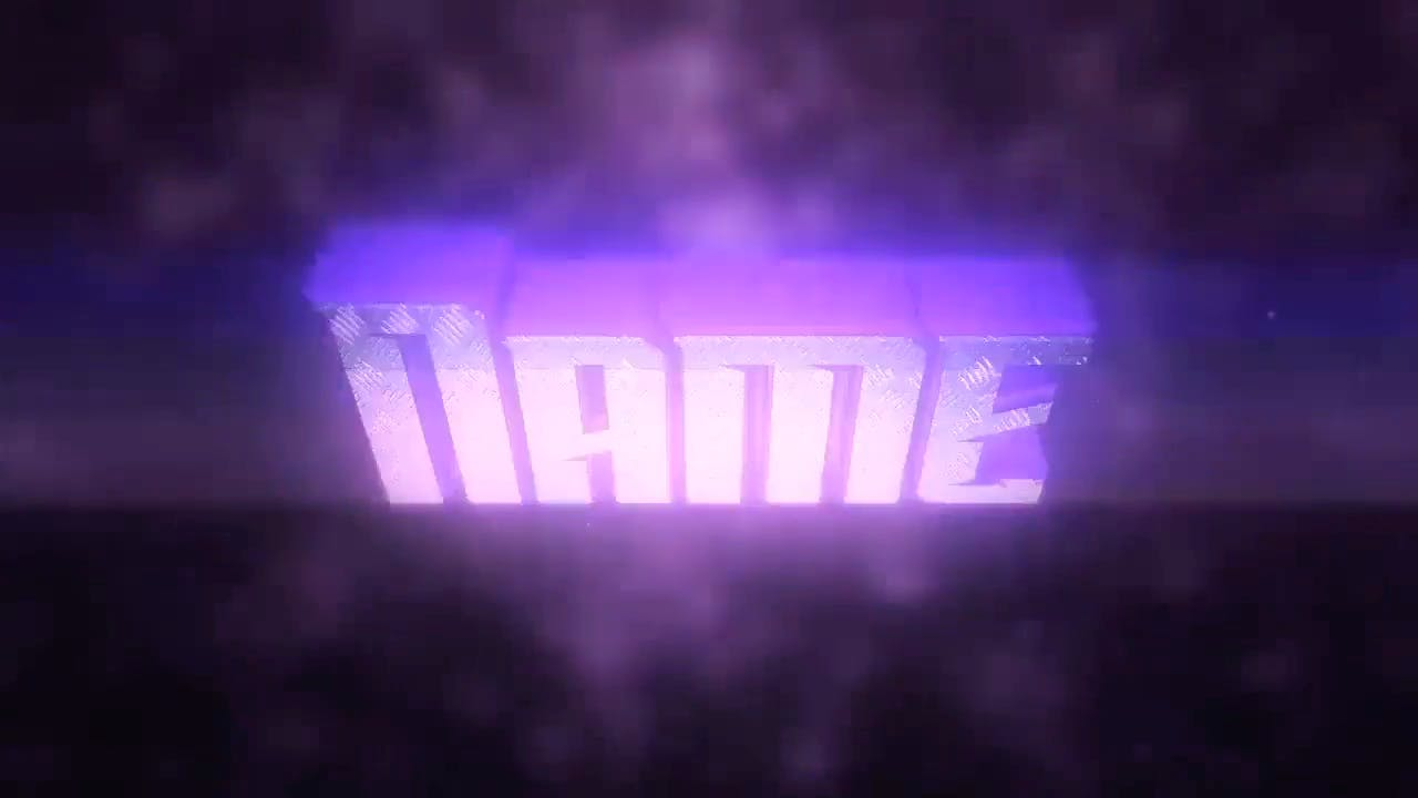 Super Cool 3D Purple Cinema 4D After Effects Intro Template