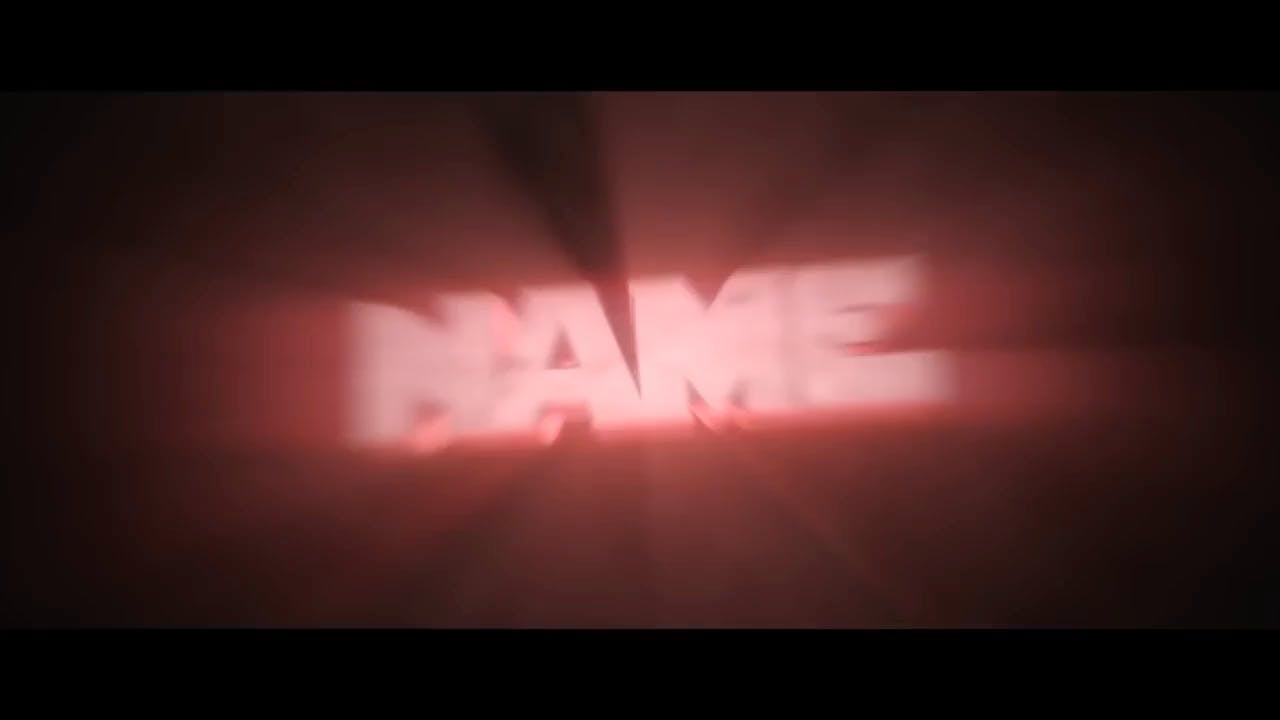 Free Blurry RED Blender Only Intro template