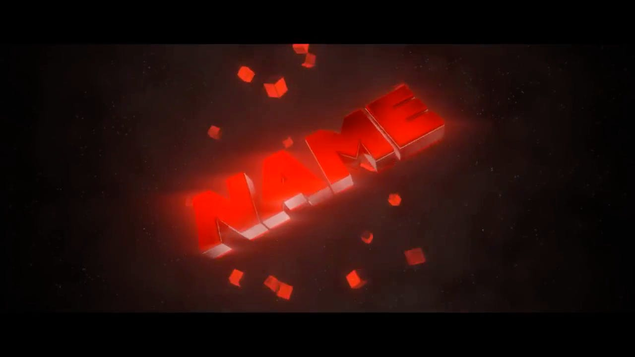 ULTRA Hot Red 3D Blender Only Intro template
