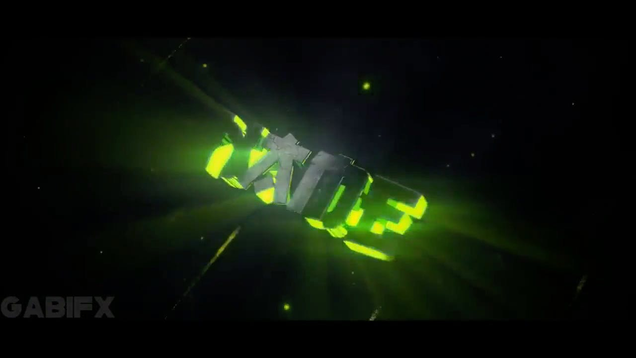 Spiral Glowing GREEN Blender Only Intro template