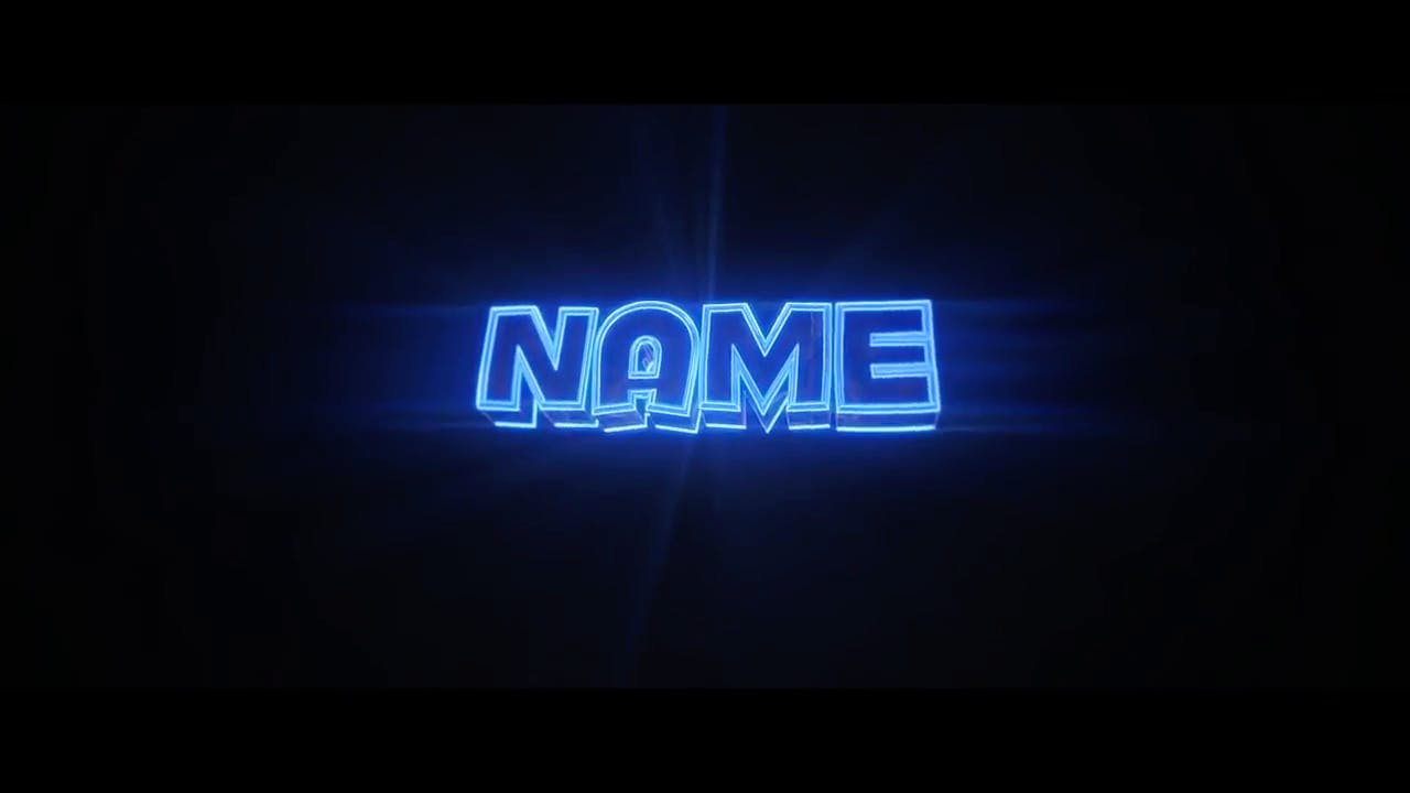 Free Glowing Lights in BLUE Blender Only Intro template