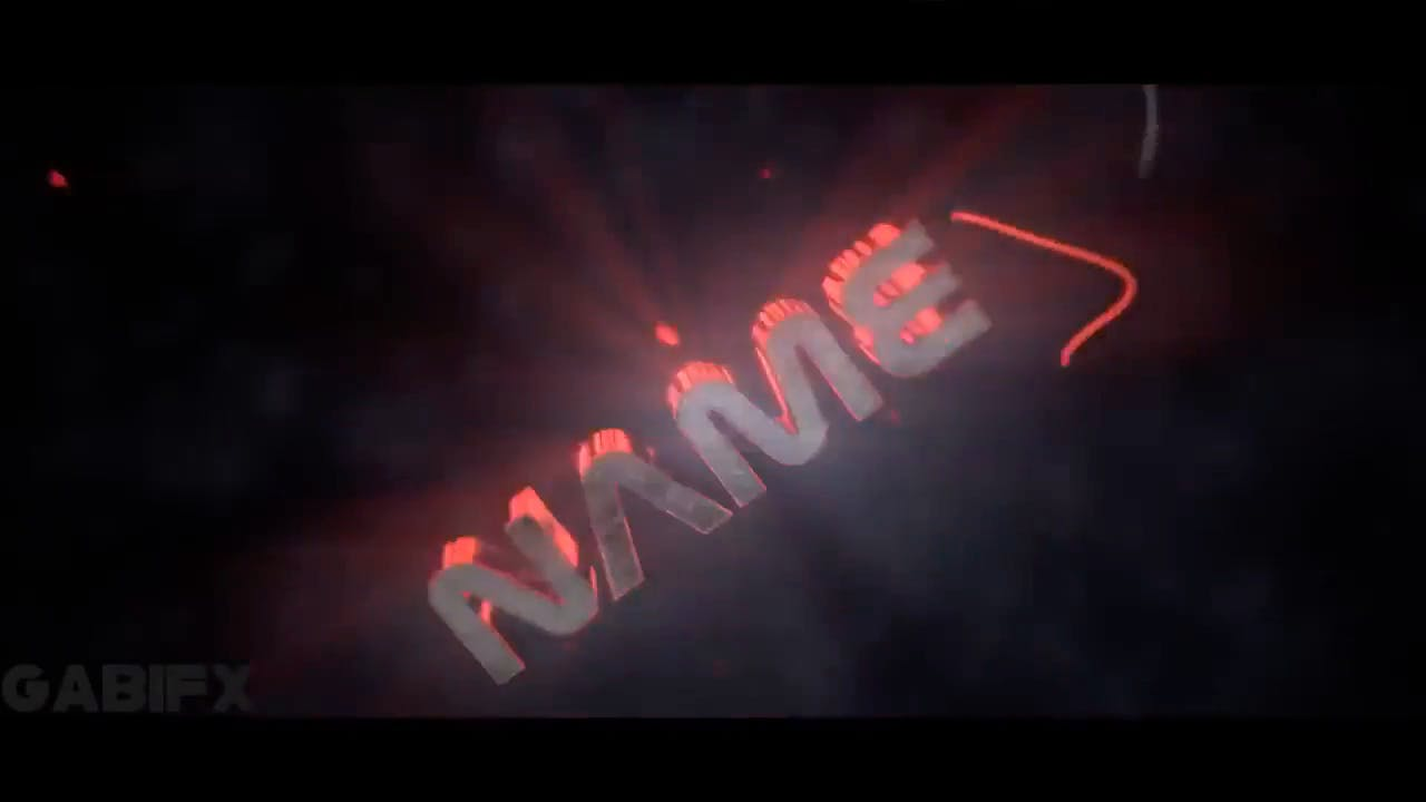 Free Glowing RED Blender Only Intro template